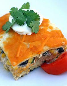 Mexican Chicken Lasagna on MyRecipeMagic.com