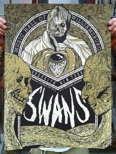 Image of Swans - Screenprinted Poster