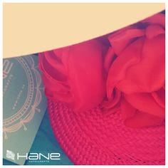 #Tocado con #flores hechas a mano