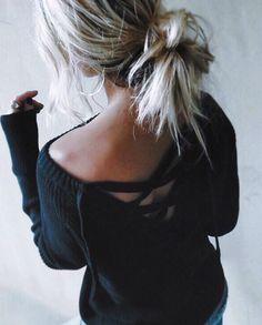 | @jessicakruu ♡ lace up sweaters