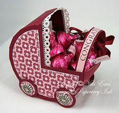 VillarteDesign Artesanato: Molde de carrinho de bebê para lembrancinha de maternidade