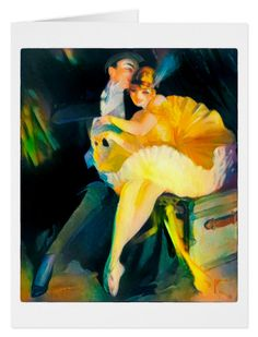 Vintage 1915 Greeting Card.  From a 1915 illustration by Bolles https://www.zazzle.com/vintage_1915_greeting_card-137076995273366120 #1915 #card #vintage #dancing #theatre