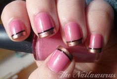pink with gold and black tips