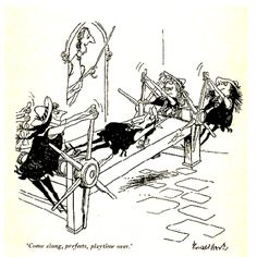'Come along, prefects, playtime over' (St Trinian's): Ronald Searle