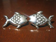 Silver tone vintage stud earrings custome by Liltreasures4you, $5.99