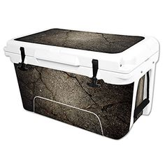 MightySkins Protective Vinyl Skin Decal Wrap for RTIC 45 qt Cooler cover sticker Cracked ** Click image to review more details.