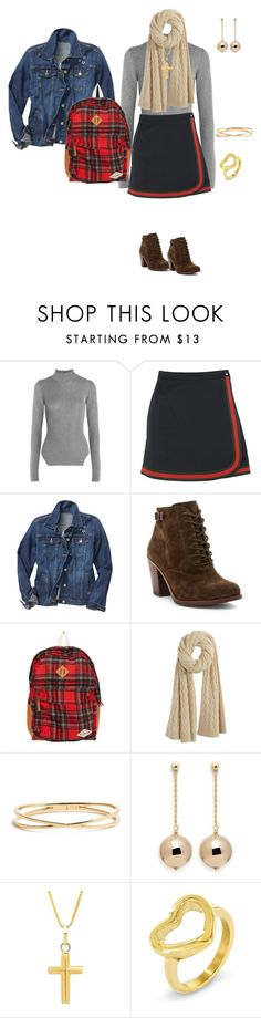 """Denim"" by tsurumi-mai on Polyvore featuring ファッション, Thierry Mugler, Gucci, Gap, Lucky Brand, Billabong, Calypso St. Barth, Nadri, Kenneth Jay Lane と Kevin Jewelers"