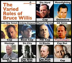 What can't Bruce Willis do?