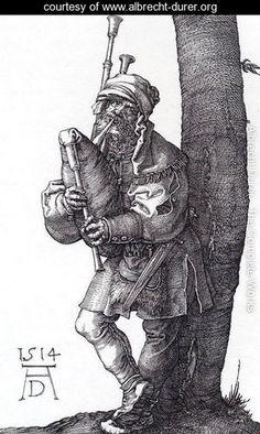 The Bagpiper - Albrecht Durer - www.albrecht-durer.org