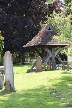 St Margaret's Church, Star Lane, Hooley, Surrey - Lych Gate from inside the church yard.