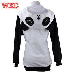 Panda Hoodies For Women Sweatshirt With Ears Cosplay Fleece Warm Women Jacket Casual Long Sleeve Anime Kawaii Winter Coat WXC