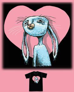 Blue Rabbit. Vote for this shirt on Threadless. By Brett Superstar.