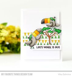 Handmade card from Vika Salmina featuring Toucan Do It from My Favorite Things #mftstamps