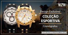 Coleção Esportiva WZW Relógios. Sofisticação em qualquer situação! Conheça nossa coleção esportiva completa através do nosso site. #WZWRelógios #RelógiosSofisticados #ColeçãoEsportiva #Sofisticação #Estilo