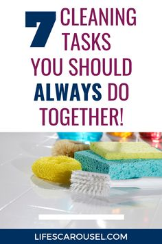Speed up your cleaning routine with these cleaning duo ideas. Cleaning tasks that you can combine so you can keep your home clean without spending hours cleaning. Weekly Cleaning, Household Cleaning Tips, House Cleaning Tips, Spring Cleaning, Cleaning Schedules, Cleaning Hacks, Disinfecting Wipes, Old Towels, Clean Bedroom