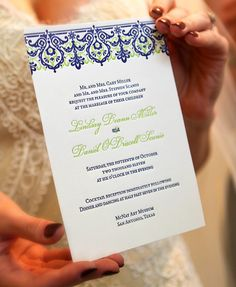 Spanish Lace Invitation  Letterpress printed on 100% cotton paper  Photo by Claire McCormack