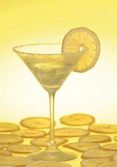 Perfect Lemon Drop Martini: 3 ounces citron vodka - 2 ounces simple syrup - 1 ounce freshly-squeezed lemon juice ( juice of 1 whole lemon) - Superfine sugar for dipping Lemon slice. Shake in a cocktail shaker with ice. Glide ice cube over edge of glass. Dip glass into sugar. Garnish with lemon slice @ Laura Hughes - Plumed Horse