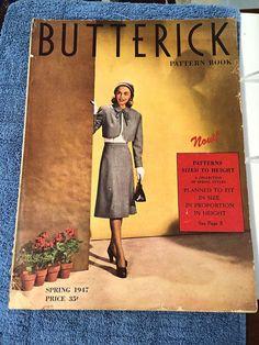 Butterick Pattern Book, Spring 1947 featuring Butterick 4066