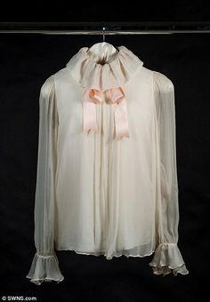 Diana walked into the shoot and, faced with a rail of clothes, made a beeline for this blouse with its distinctive satin neck ribbon. It was made by the then-unknown young husband and wife design duo, David and Elizabeth Emanuel. Fortuitously for Vogue — and the Emanuels — the timing of the publication coincided with the announcement of Lady Diana Spencer's engagement to the Prince of Wales.