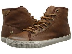 Frye Chambers High Cognac Soft Pebbled Full Grain/Suede - Zappos.com Free Shipping BOTH Ways