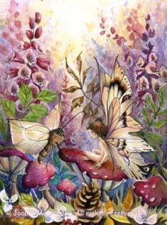 dollshousedropin: (via Crimson Foxglove fairy fantasy watercolour by JoannaBromleyArt) Magical Creatures, Fantasy Creatures, Fairy Land, Fairy Tales, Fairy Dust, Fairy Paintings, Fable, Unicorns And Mermaids, Elves And Fairies
