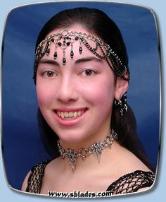 WebArt Dancer Tiara, Chainmail jewelry, Gothic metal head-wear
