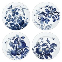 Thomas O'Brien Austin Floral Indigo 8-1/4 Inch Assorted Salad Plates, Set of 4 by Reed & Barton. $71.99. Elegantly Gift Boxed. Dishwasher & Microwave Safe. Coordinates with Austin Stemware and Austin Bee Flatware. Crafted of Fine Ironstone. Thomas O'Brien Austin Floral Indigo Fine Ironstone Set of 4 Assorted Salad Plates are inspired by a 19th-century European  set of transferware dishes, and it shares the antique's amazing naturalism.  A flowing layout that travels across the ...
