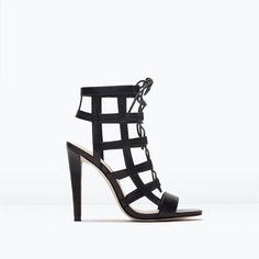 LEATHER HIGH HEEL WRAPAROUND SANDALS-Shoes-Woman-SHOES & BAGS | ZARA United States
