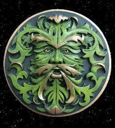 Green Man - Earth Elemental Plaque- $30.00