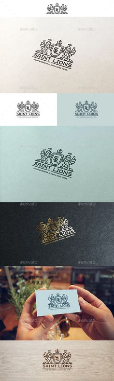 Saint Lions Logo template  #lion #lions #luxury #modern heraldry #premium #professional #real estate #restaurant #$29