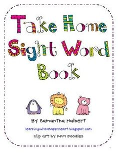 Free sight word book - TeachersPayTeachers.com - An Open Marketplace for Original Lesson Plans and Other Teaching Resources