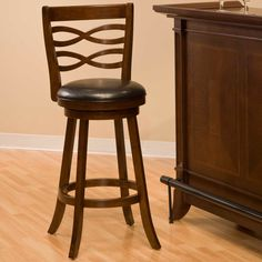Hillsdale Elkhorn 25.5 in. Swivel Counter Stool - Cherry - Bar Stools at Hayneedle