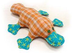 Free pattern - Как сшить игрушку утконоса. Выкройка утконоса. / Мастер-класс