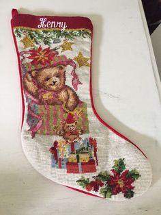Needlepoint Personalized Christmas Stockings
