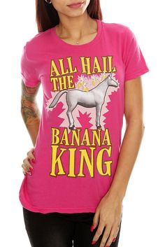Charlie The Unicorn Banana King Girls T-Shirt