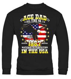 Mens Ace Dad All Time No.1 Genuine 1957 Original  thanksgivingday#tshirt#tee#gift#holiday#art#design#designer#tshirtformen#tshirtforwomen#besttshirt#funnytshirt#age#name#october#november#december#happy#grandparent#blackFriday#family#thanksgiving#birthday#image#photo#ideas#sweetshirt#bestfriend#nurse#winter#america#american#lovely#unisex#sexy#veteran#cooldesign#mug#mugs#awesome#holiday#season#cuteshirt