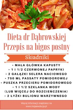 Bigos postny - przepis na jedną z moich ulubionych potraw, która zagościła na stałe w moim postnym menu. Wypróbuj koniecznie i podziel się swoimi wrażeniami #przepisydrdąbrowskiej #dietadąbrowsiejprzepisy #dietadrdąbrowskiejprzepisy