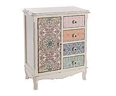 Mueble auxiliar en madera de pino, DM y cerámica Leila