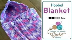 Baby Blanket This is version one of the Hooded Baby Blanket using Bernat Baby Blanket Yarn. In this version, the
