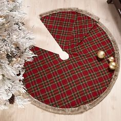 jeffrey banks plaid tidings christmas tree skirt at hsncom