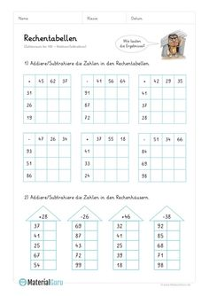 Worksheet: Calculation tables addition (up to - mix tasks - Holly's Education Archive 2nd Grade Math Worksheets, School Worksheets, Spelling Words, Math Workshop, Printable Crafts, Elementary Education, Business For Kids, Fun Math, Learn To Read