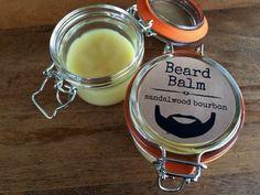 Beard Balm Recipe 9 You'll need:  4 TBS Beeswax  4 TBS Shea Butter  2 TBS Cocoa Butter  2 TBS Jojoba Oil  4 tsp Sweet Almond Oil  Sandalwood  - See more at: http://www.bulkapothecary.com/blog/other-recipes/beard-balm-recipe/#sthash.FNfcN27W.dpuf