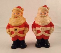 2-Vintage-Gurley-Candles-Christmas-Large-9-inch-Jolly-Santas-Red-White-Unused