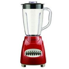 Brentwood 12 Speed Blender Plastic Jar -Red