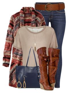 Skinny Jeans and Tall Boots by colierollers on Polyvore featuring polyvore, fashion, style, American Eagle Outfitters, Samsøe & Samsøe, H&M, Prada, New Directions, Kendra Scott and clothing