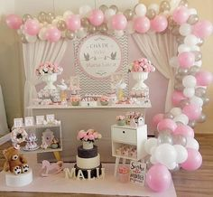 55 Ideas baby shower ides for girs themes princesses balloons Girl Baby Shower Decorations, Birthday Party Decorations, Baby Shower Themes, Birthday Parties, Birthday Cakes, Shower Ideas, Shower Bebe, Girl Shower, Theme Bapteme