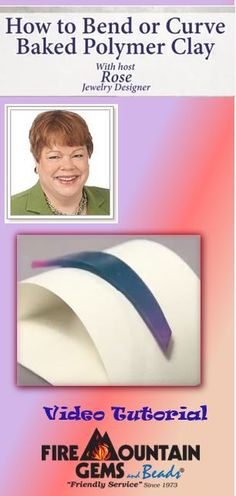 In-house jewelry designer Rose Wingenbach shows how to bend or curve a baked piece of polymer clay in case you ever bake polyclay into a specific shape only to realize the shape just won't work with your jewelry project.