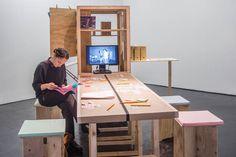 Aktion_Arkiv (mobile archive) with Meike Schalk, Sara Brolund de Carvalho and Helena Mattsson, Tensta konsthall, Stockholm/SE, 2014 © Courtesy Tensta konsthall (Tensta Art Centre) Helena Mattsson, Exhibition Space, Stockholm, Archive, Centre, Projects, Design, Art, Action