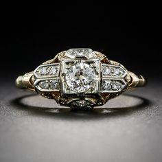 .30 Carat Diamond Two-Tone Art Deco Engagement Ring