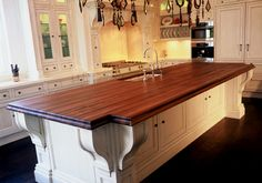This is THE countertop I want- Walnut Countertop by J. Aaron